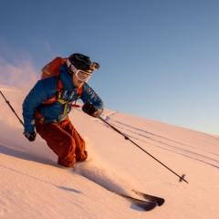 Golden skier